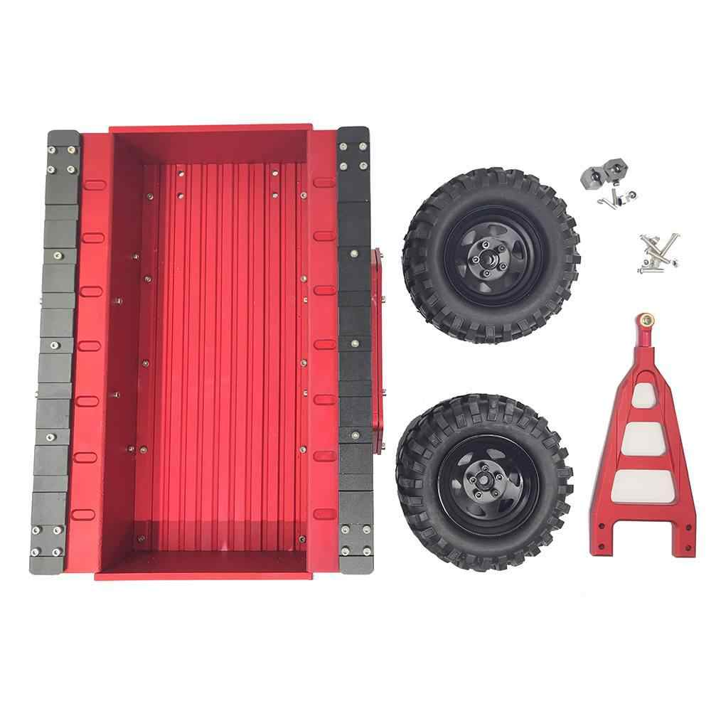 Leadingstar Aluminium RC Hitch Mount Trailer untuk 1/10 RC Rock Perayap Mobil Axial SCX10 TRX4 Tamiya CC01 D90 Mobil Hopper