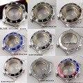 9 modelle Edelstahl Uhr Fall Uhr Teile 40 MM Sapphire Kristall Rotierenden Lünette Fit Für MIYOTA Automatische Bewegung-in Zifferblätter aus Uhren bei