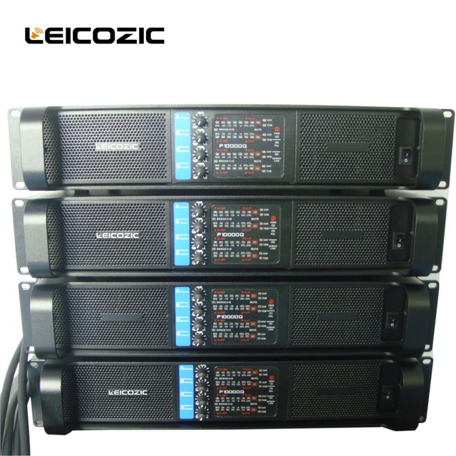 Leicozic 4 canal 2500 W x4 L10000q array amplificador de
