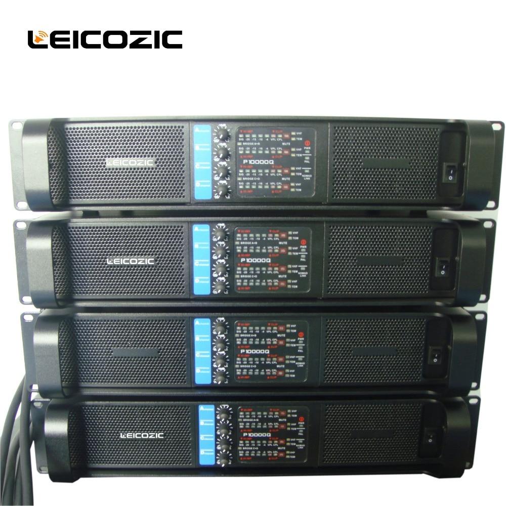 Leicozic 4 canaux amplificateur 2500 w x4 L10000q ligne amplificateur de rangée audio amplificateur de puissance professionnel caisson de basses alimentation amp