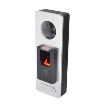 Controlador de acceso de huella digital HIK Original DS-K1T501SF, timbre de puerta IP, aplicación de teléfono push, P2P, intercomunicador de vídeo IP