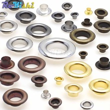 100pcs/pack Metal Eyelets Grommets 3MM 4MM 5MM for Leather Craft DIY Scrapbooking Shoes Fashion Practical Accessories
