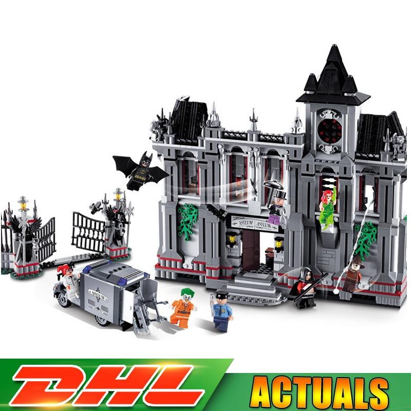 DECOOL 7124 1685 Pcs Genuine Marvel Batman Movie Arkham Asylum Model Building Blocks Bricks Toys Compatible LegoINGlys 07055 lepin batman series arkham asylum building blocks bricks movie model kids toys marvel compatible legoe