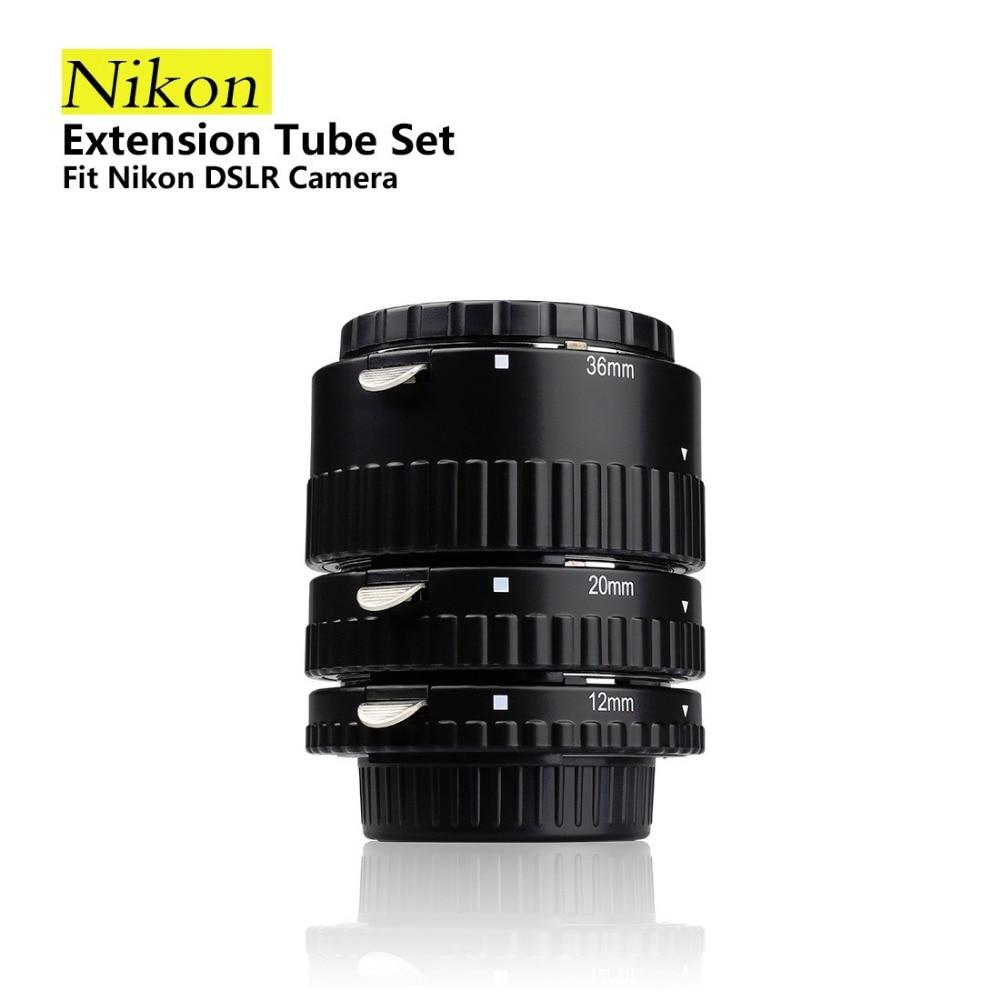 Meike N-AF-A Auto Focus Macro Extension Tube Ring for Nikon D60 D90 D3000 D3100 D3200 D5000 D5100 D5200 D7000 D7100 Camera DSLR цена 2017