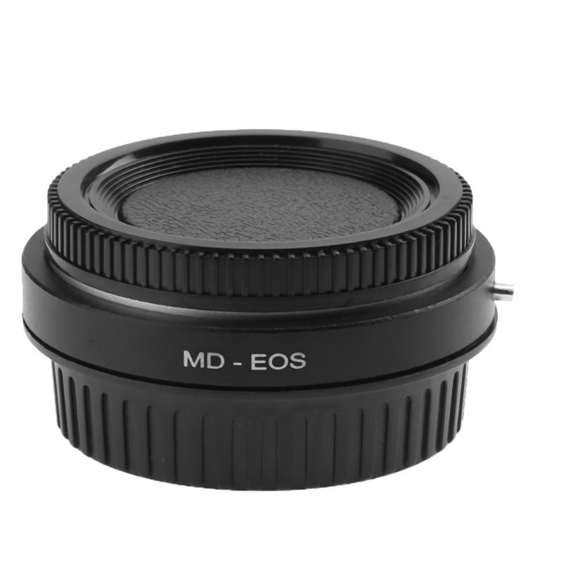 High Precision MD-EOS Lens Mount Adapter Ring with Lens Cap for Minolta MD Lens to EOS EF for Canon Adapter Ring fotga md eosm minolta md mc lens to canon m mount adapter black silver