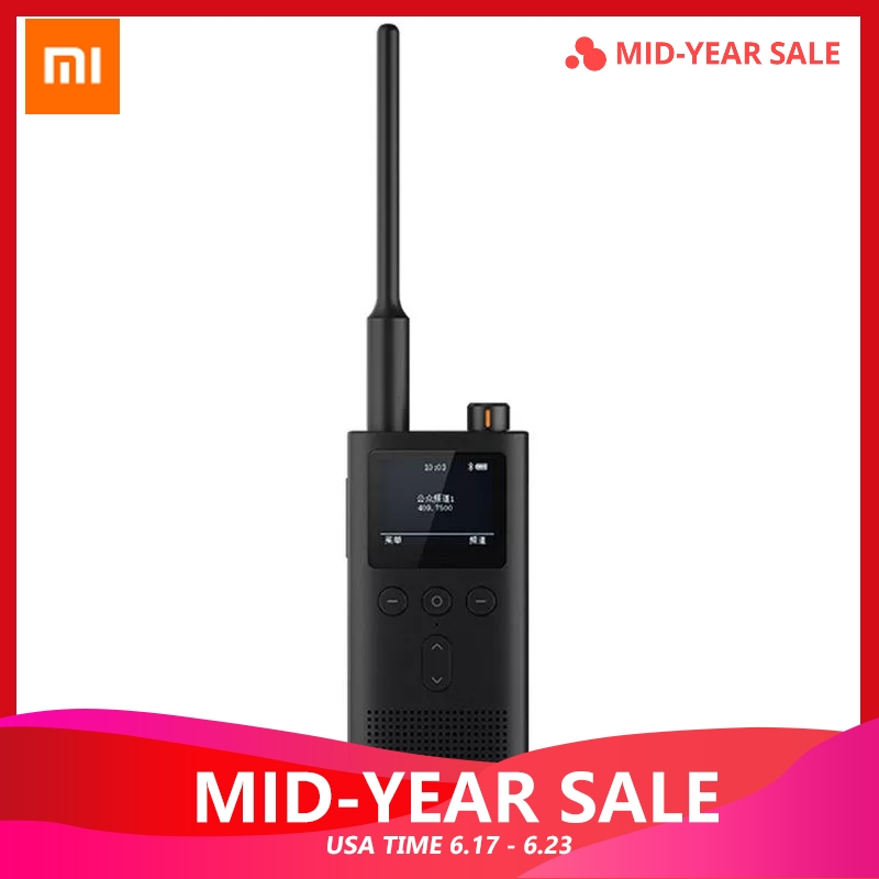 Original Xiaomi Mijia talkie-walkie 2 5 W UV double bande Radio IP65 étanche 13 jours longue veille Interphone Location part