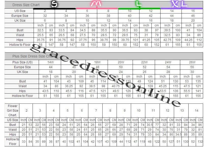 grace size chart