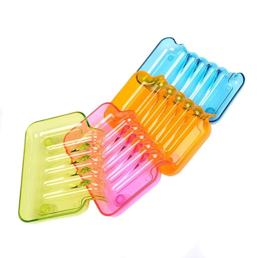 1Pc kolorowe elastyczne wodospad uchwyt na mydelniczkę taca opróżniania mydelniczka łazienka mydło do kąpieli taca pojemnik do przechowywania
