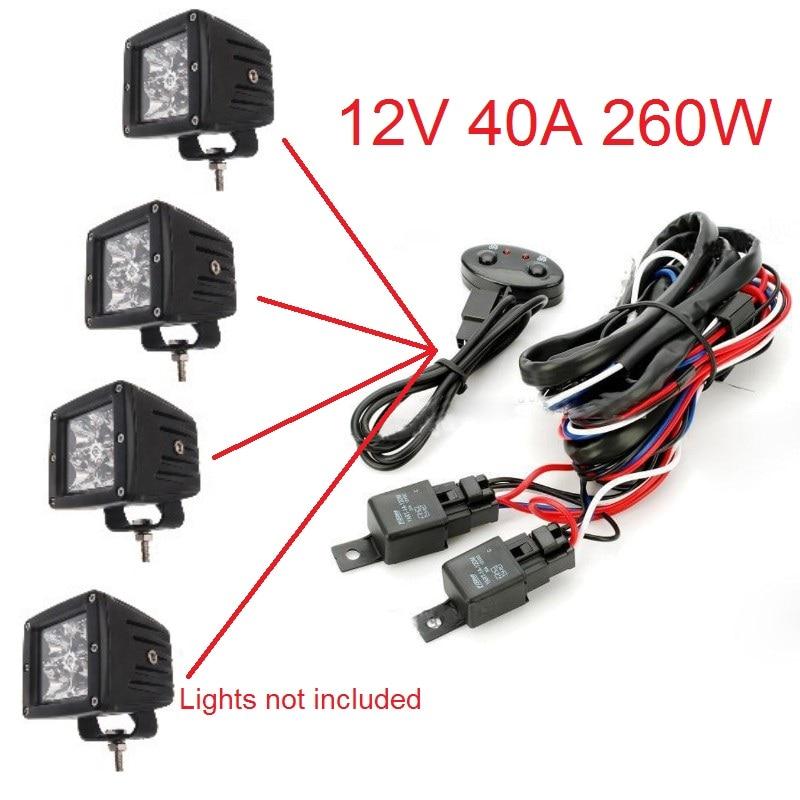 12v Wiring Kit Includes Switch Relay For Led Spotlights Work Fog