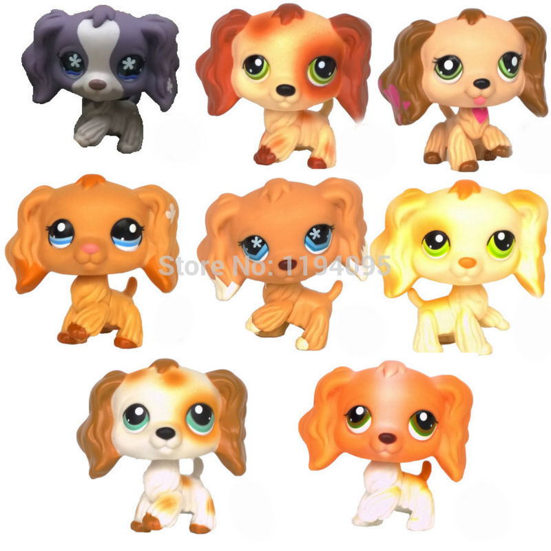 SPANIEL rare dogs animal pet shop lps toys lps pet shop toys rare black little cat blue eyes animal models patrulla canina action figures kids toys gift cat free shipping
