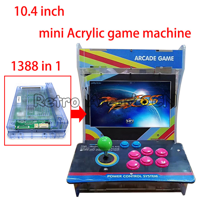Pandora 5S 999 in 1 arcade game console Acrylic cabinet machine 1299 in 1 upgrade to