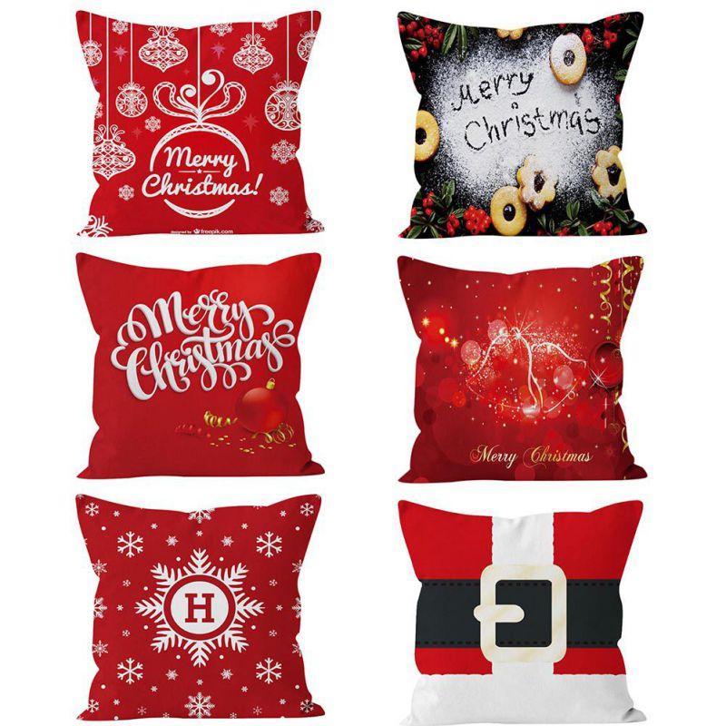 Macio Fronha Carta Padrão Do Floco De Neve de Natal Xmas Cabelo Curto Capa De Veludo Travesseiro Y