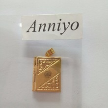 Allah Box Pendant Necklaces Women Gold Color islam necklace Prophet Muslim/Middle Eastern Jewelry Allahu #000302