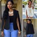 2016 Magros Ocasionais Mulheres Moda Doce Cor Sólida Terno Blazer Brasão Jacket Outwear Quente