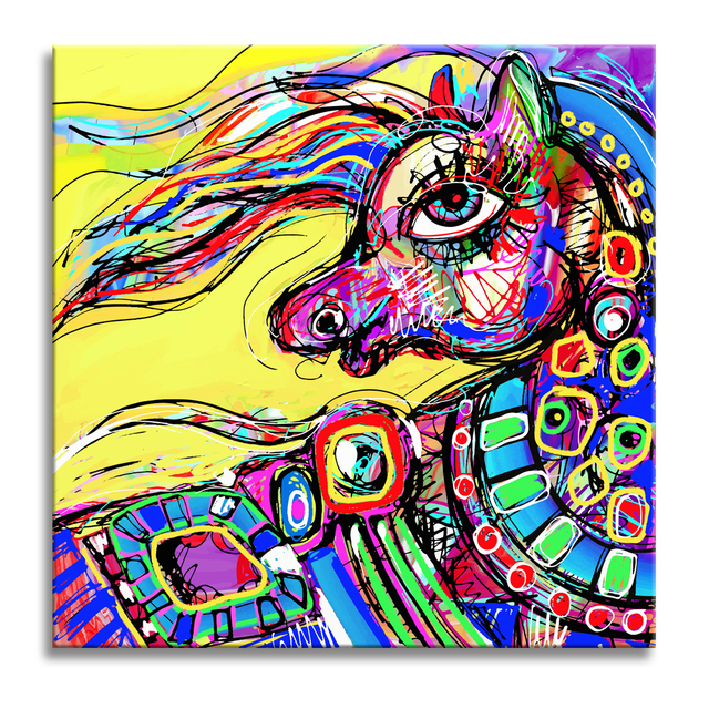 unicorn painting prints kids room decoration funny canvas prints for