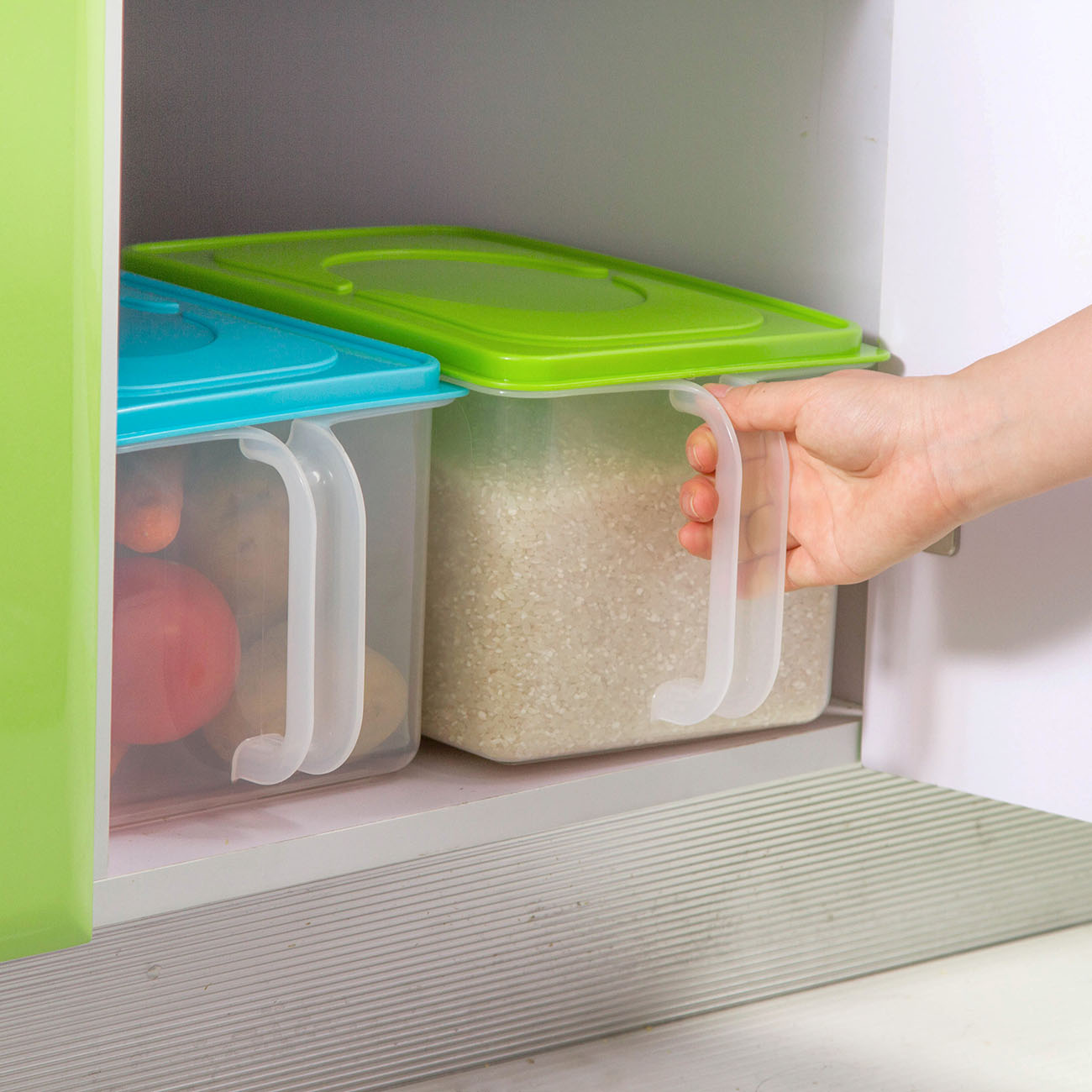 Kitchen Clear Plastic Food Storage Containers Portable Refrigerator Food Crisper Storage Box Grains Beans Rice Fruit Sealed Box|Bottles Jars & Boxes| |  -