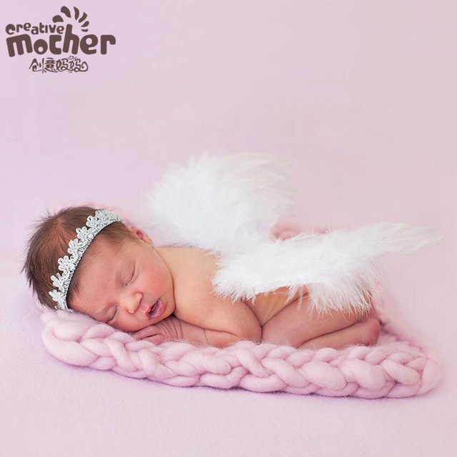 40x50 cm photography props basket fashion baby wool blanket solid photo props backdrop background newborn photography