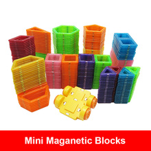купить 1Piece Mini Size Magnetic Blocks  Designed construction Blocks 3D Model Building Bricks Children Educational Toys Small Size онлайн