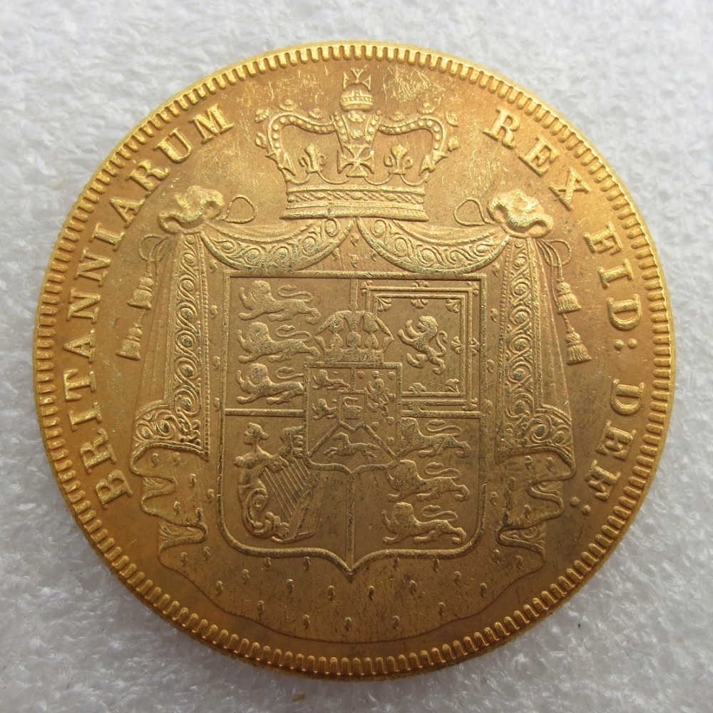 UK 1826 5 Pounds - George IV Gold Copy Coins