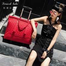 Travel tale high quality fashion 16 inch waterproof PU Rolling Luggage Spinner brand Travel Suitcase/handbag/bag