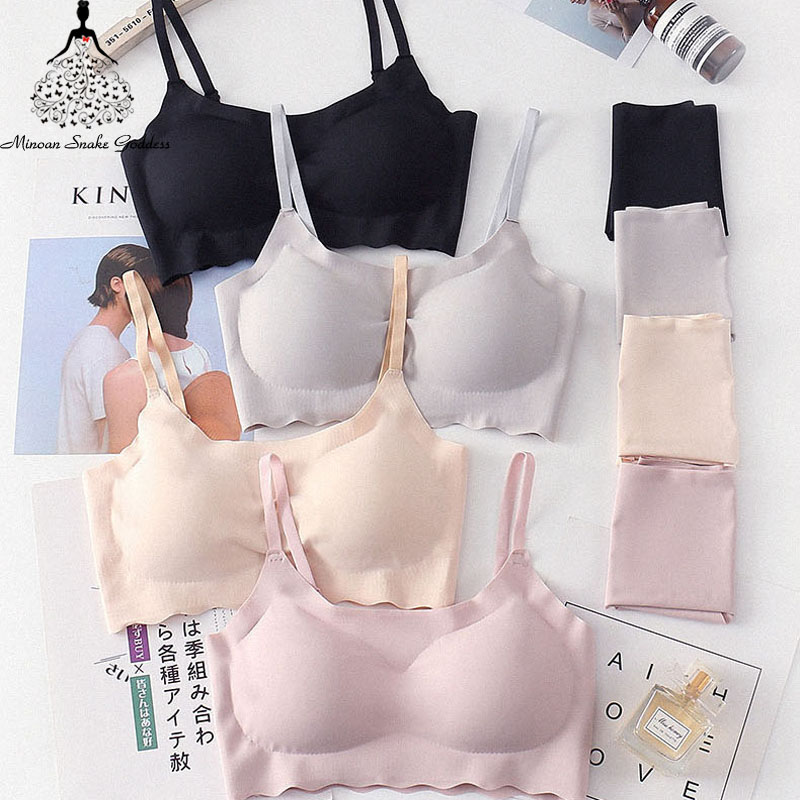 Seamless   Bra     Set   For Women Underwear Push Up Lingerie   Set   Wire Free   Bra   And Panty   Set   Plus Size S M L XL Size Intimates Female