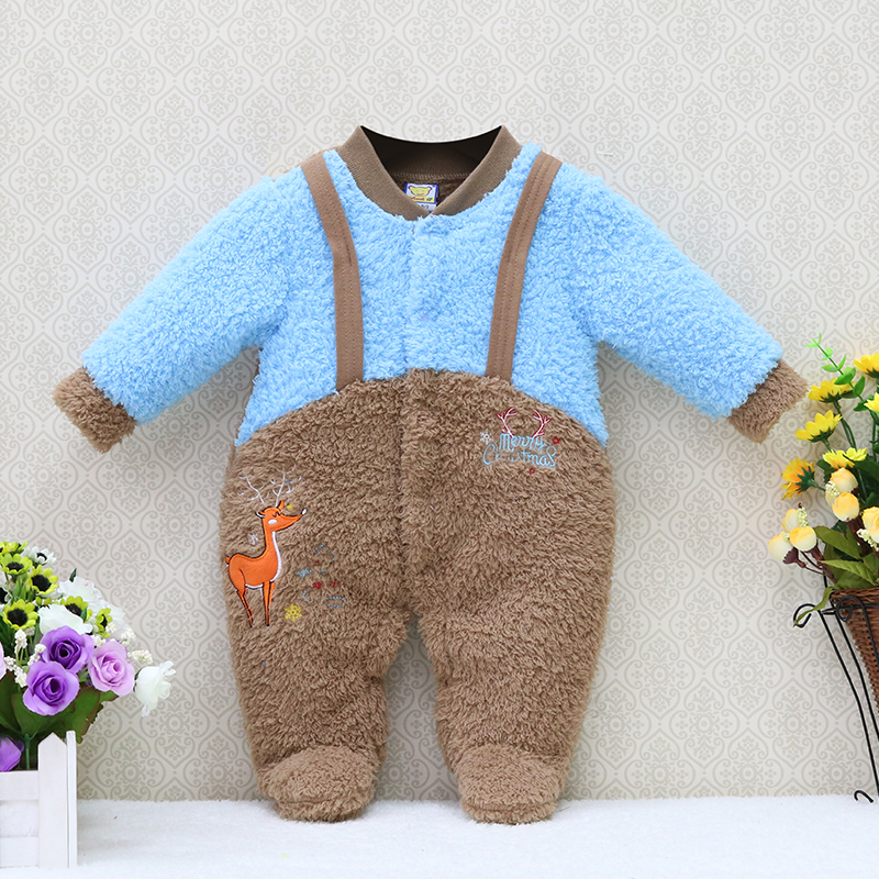 Little Q New Arrival newborn boys one piece romper christmas cold autumn baby clothes toddler clothing warm winter kids kidswear puseky 2017 infant romper baby boys girls jumpsuit newborn bebe clothing hooded toddler baby clothes cute panda romper costumes
