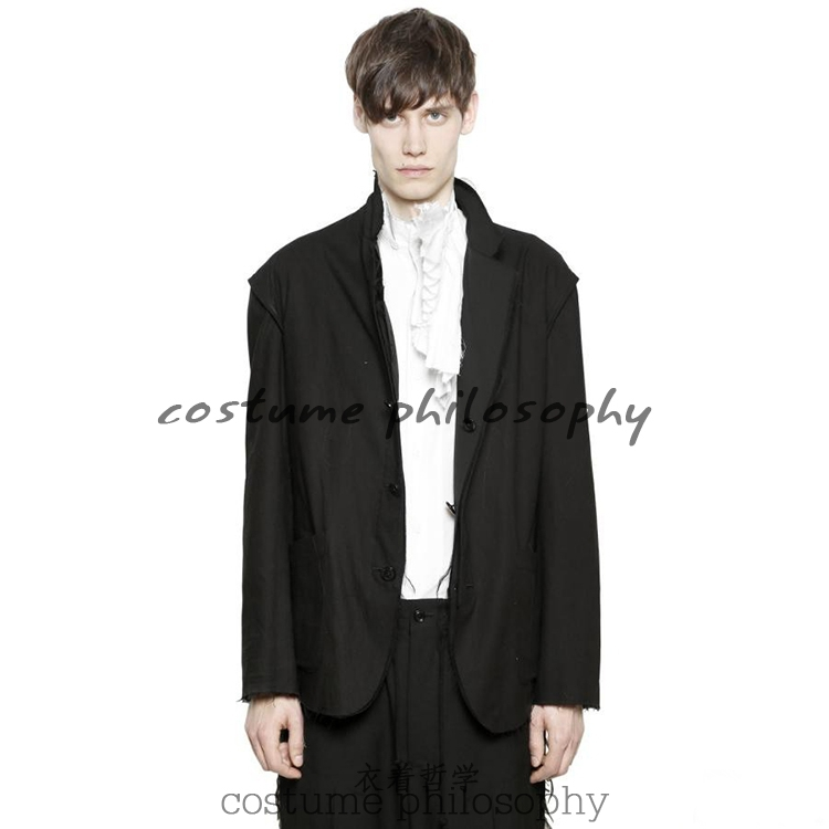 Trend Mark Xs-5xl New 2017 Mens Clothing Fashion Gd Hair Stylist Catwalk Slim Double Sided Wear Stitching Suit Plus Size Singer Costumes Blazers Men's Clothing