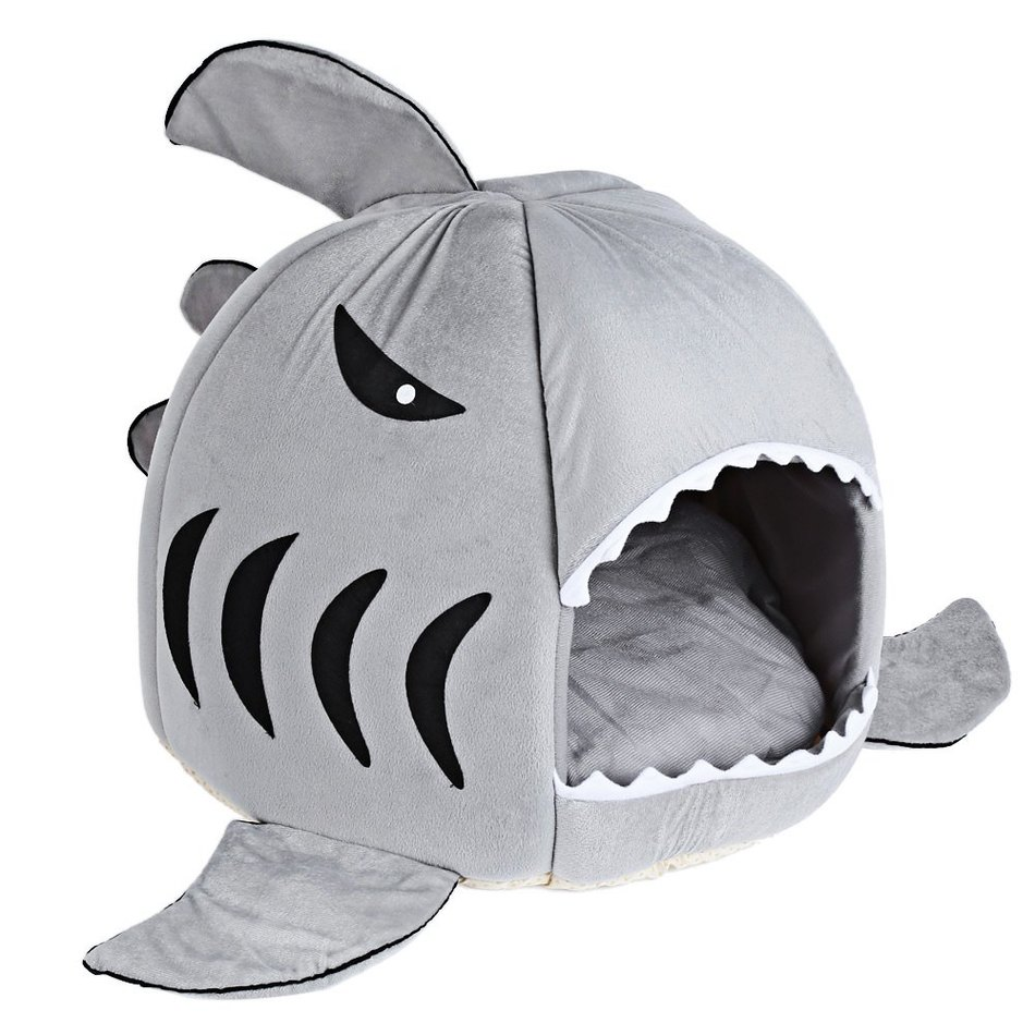 Warm Soft Cat House Winter Pet Sleeping Bag Beautiful Shark Dog Kennel Cat  Bed Puppy Small