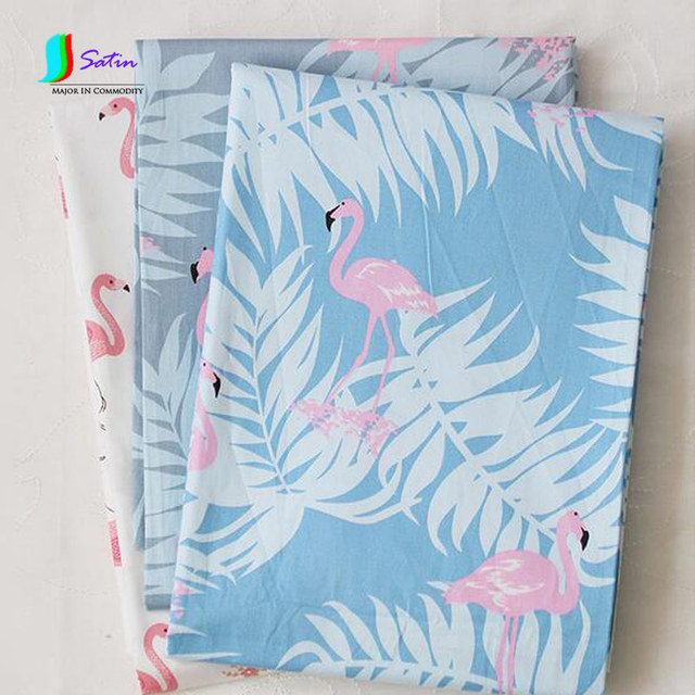 1,5 mt Breite Blau Hintergrund Flamingo Muster DIY Nähen Twill ...