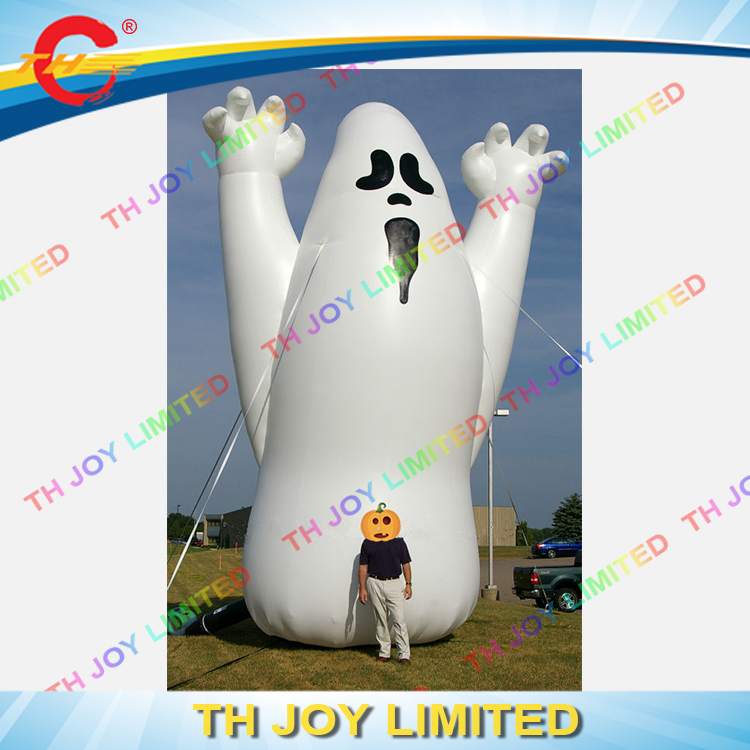 5m high giant inflatable ghost cartoon for sale with blower scary halloween ghost with lights