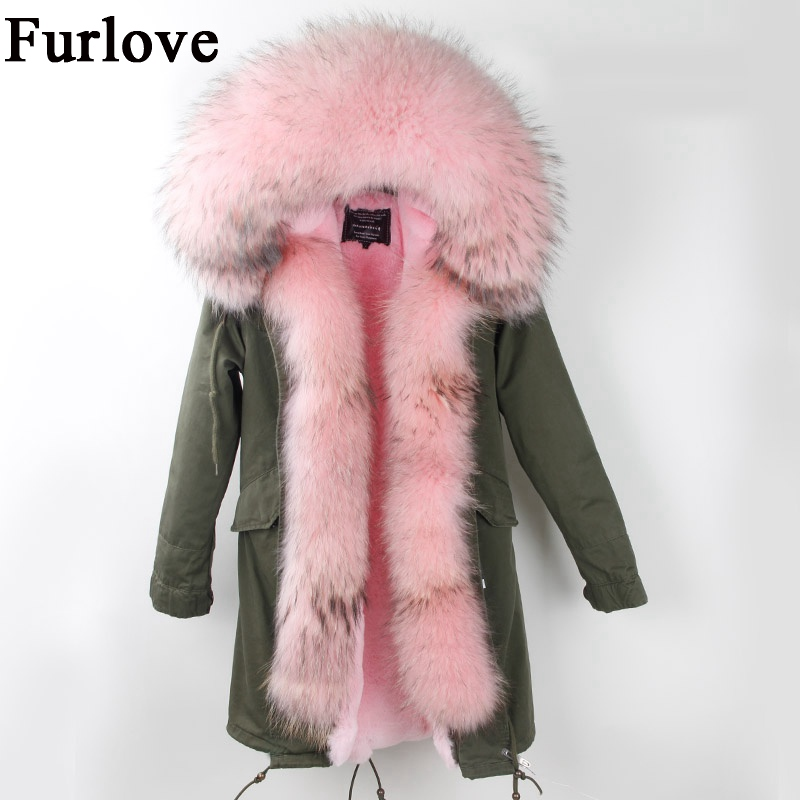 Womens Winter Jacket Women Coat Warm Jackets Real Raccoon Fur Collar Hooded Coats Thick Fur Parka Long Parkas DHL free shipping winter coat women womens jackets natural raccoon fur collar hooded jacket real fox fur parka thick coats casual long warm parkas