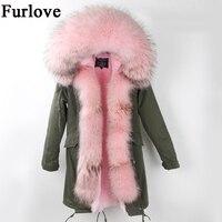 Womens Winter Jacket Women Coat Warm Jackets Real Raccoon Fur Collar Hooded Coats Thick Fur Parka Long Parkas DHL free shipping