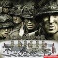 Segunda guerra mundial equipo de ataque de las fuerzas Americanas soliders ejército Banda de Hermanos de bloques de construcción ladrillos armas compatible legoeinglys. juguete