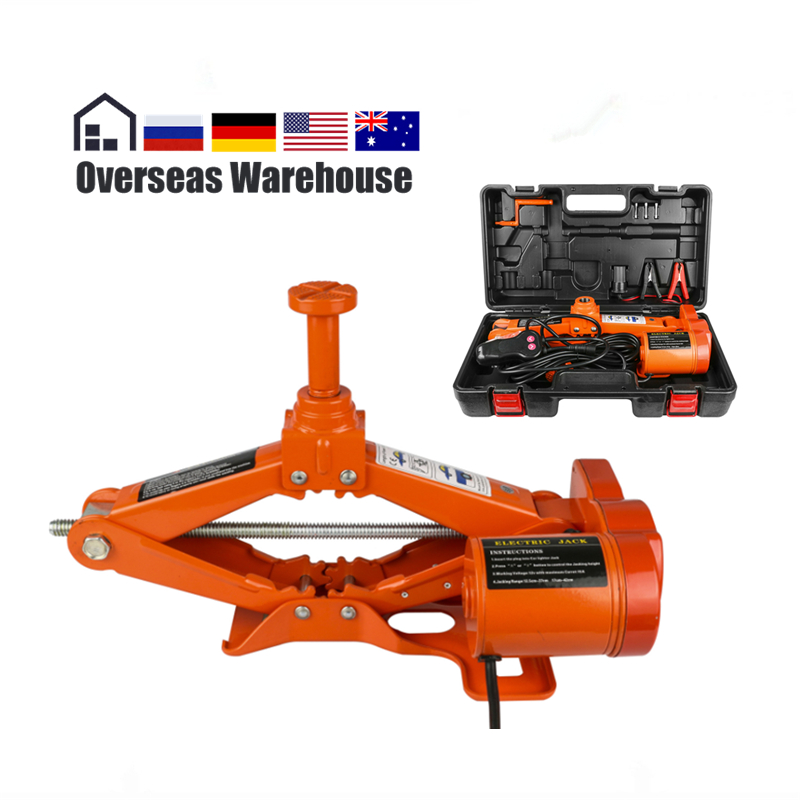 Car Electric Screw Jack Floor 3 Ton 6600lb DC 12v Lift Scissor Jack Repair Tool Auto Emergency Roadside Tire Change Lifting newest 12v automotive electric car jack scissor lift 2 ton lifting jack auto emergency equipment impact wrench