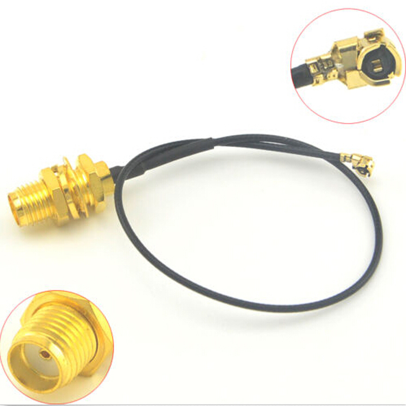 100 Pieces Extension cable SMA female bulkhead to Ufl IPX RF connector pigtail cable 1 13