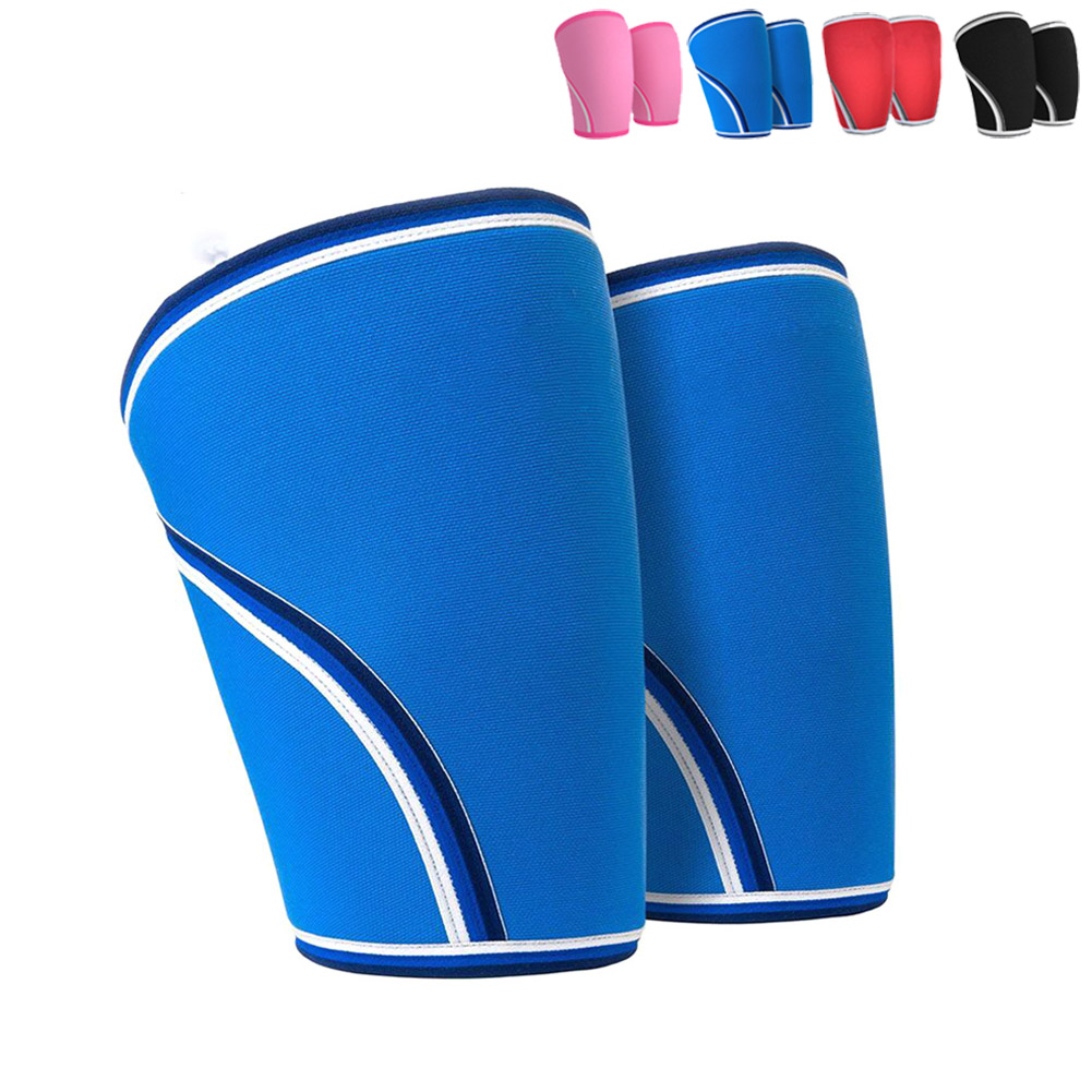 1 Pair 7mm Knee Protectors Sleeve Neoprene For Weight Lifting Sport Gym Outdoor B2Cshop