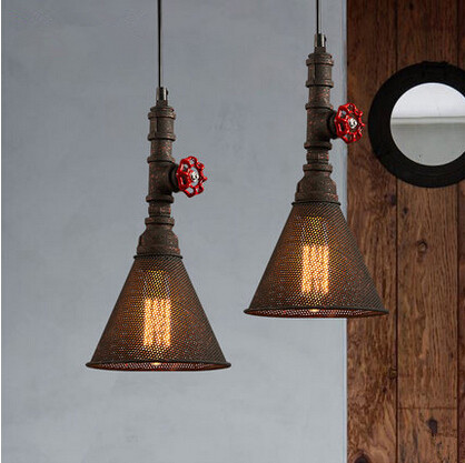 Hot Sale Iron Water Pipe Pendant Lights Vintage Lamp Industrial Hanglamp Fixtures For Home Lightings Cafe Bar Lamparas Colgantes hot sale fashion hot sale coconut palm iron wall hanging basket