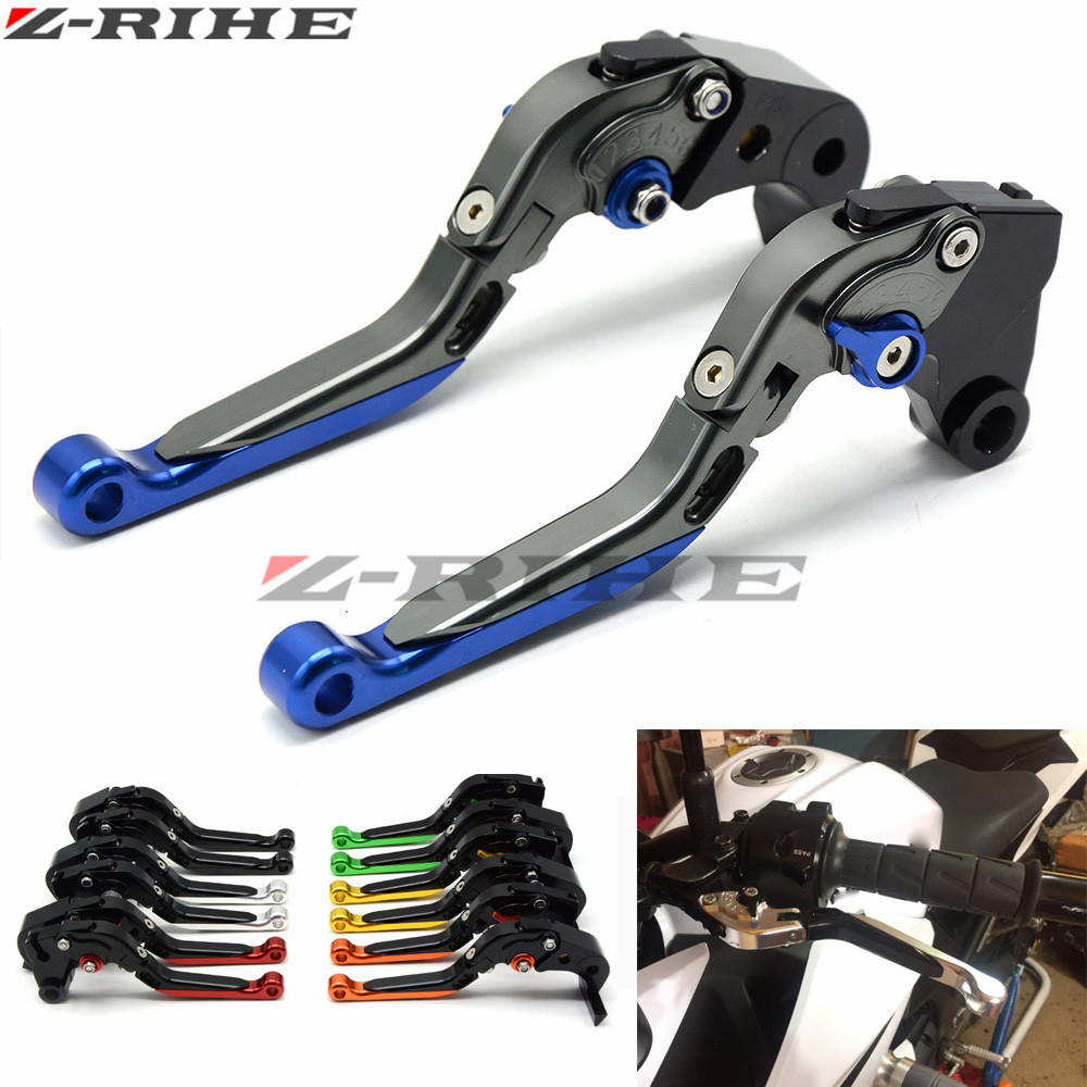 for YAMAHA FZ6 FAZER	2004-2010  FZ6 FZ 6 R 2009-2015 Motorcycle Accessories Folding Extendable Brake Clutch Levers laser logo fz6 for yamaha fz6 fazer 2006 2010 2007 2008 2009 cnc motorcycle frame crash slider protector drop resistance