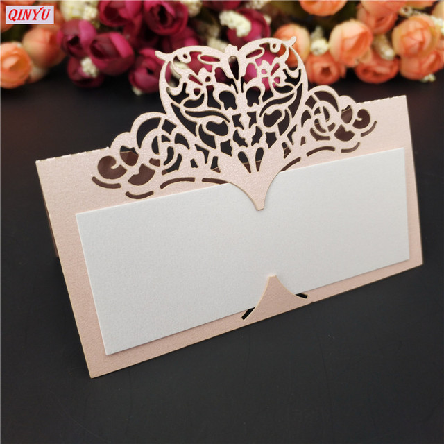 50pcslot laser cut wedding party table name place cards wedding reception bridal shower