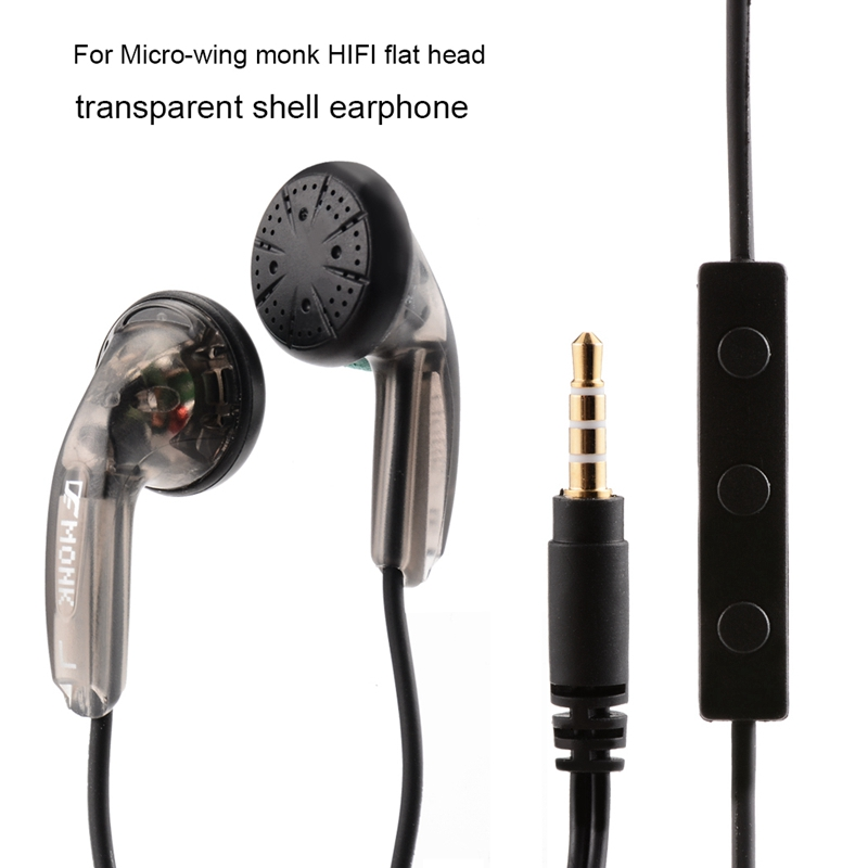 Venture Electronics VE Monk Plus Earphone Wired fone de ouvido Flat Head Earbuds High Impedance 3.5mm Headset With Microphone