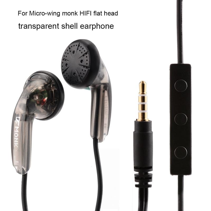 Venture electronics ve monk mais fone de ouvido com fio fone de ouvido cabeça plana fones alta impedância 3.5mm com microfone