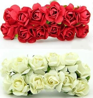 1440 Pcs/lot 10 Colors Mixed Color 1.5cm Rose Paper Flowers Wedding Crafts Gifts Supplies Accessories Festival Party Decorations