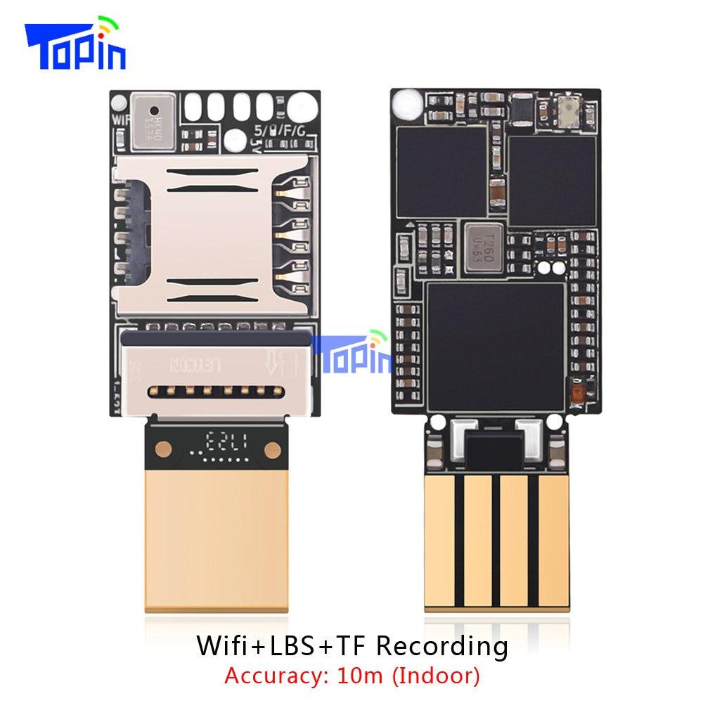 Más pequeño ZX618 pcba WiFi lbs GSM Tracker posicionamiento tarjeta TF Grabación de voz interior accuarcy 10 m mini 20*13 MM voz