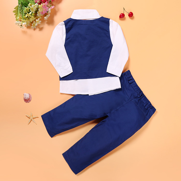 e88130a8f 2019 2019 Autumn Toddler Baby Kids Boys Gentleman Clothing Sets ...