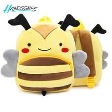 Animal Zoo Plush Backpack for Kindergarten Girls and Boys Cartoon Backpack Children Ani,al Plush Toys Bag Infantes Mochila