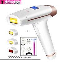 Lescolton 4in1 1000000 times IPL Laser Hair Removal Machine Laser Epilator Permanent Depilator Electric 400000 Pulse Tender Skin