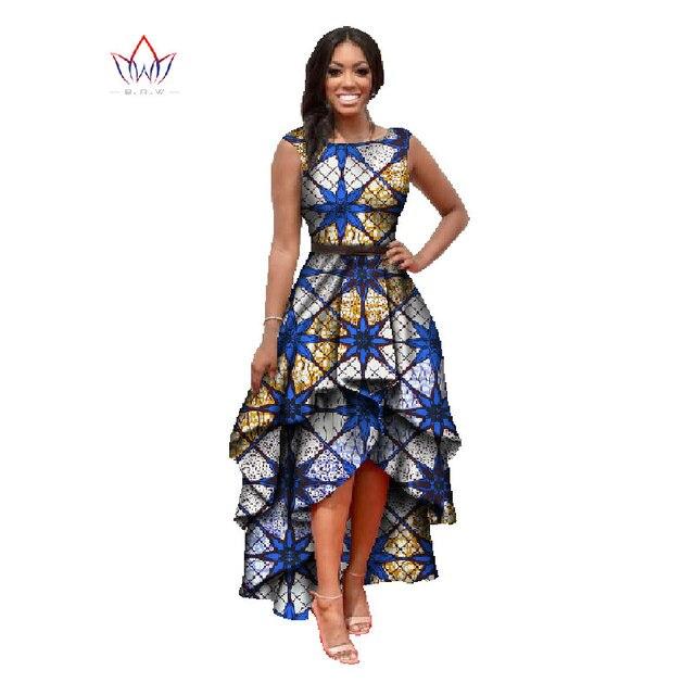 Африканские одежды для женщин о-образным вырезом африканская вышивка базен dress Dashiki женщины dress хлопка африканская печати dress большой размер WY447