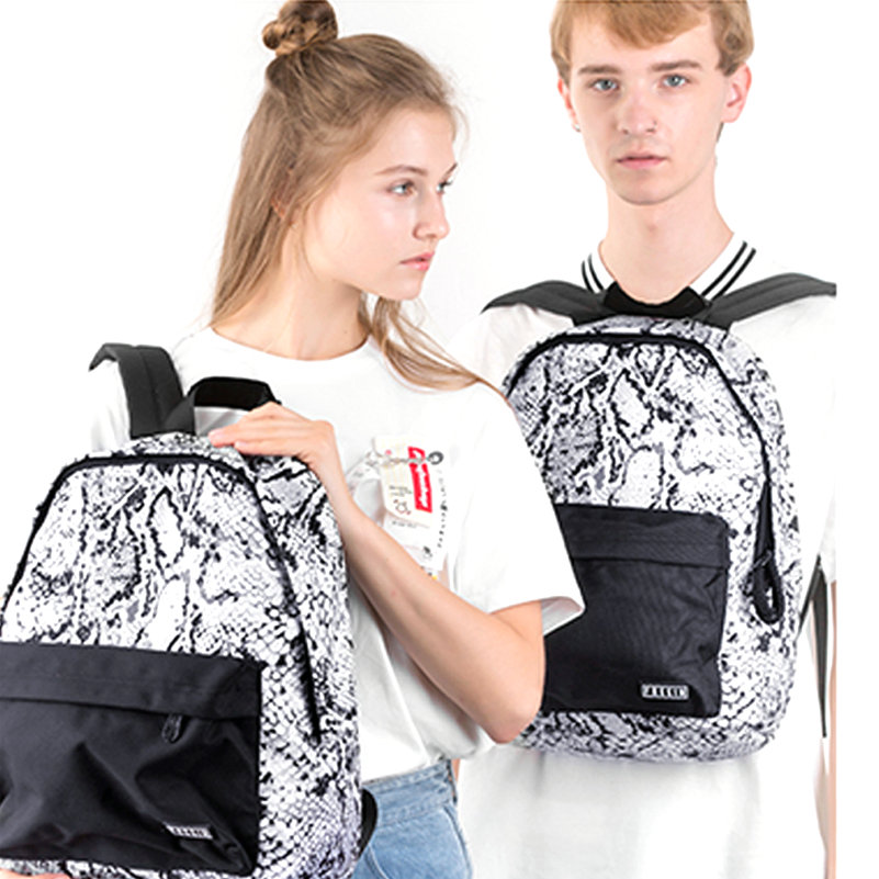 цены FREEIN Printed Backpack Women Men Bag 15 Inch Waterproof Polyester College Casual Teenage School Style Student Capacity Knapsack