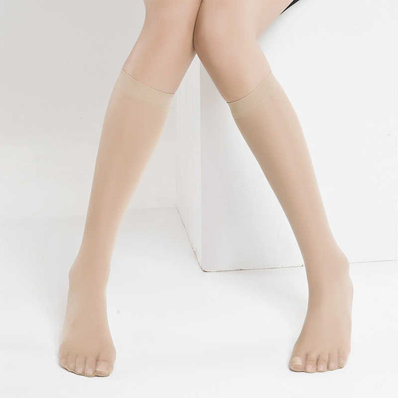 09a106b8367 ... 3pairs Sexy Women s Stockings Thigh High Breathable Crystal Silk Knee  Socks Transparent Ladies Nylon Stockings Tights ...