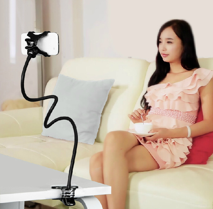 360 Degree Flexible Arm Phone Holder Stand Lazy People Bed Desktop Mount For Alcatel C3 C5 C7 C9  6037 7046